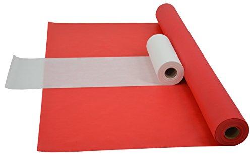 Sensalux Kombi-Set 1 Tischdeckenrolle 1m x 25m + Tischläufer 30cm (Farbe nach Wahl) Rolle rot Tischläufer weiß
