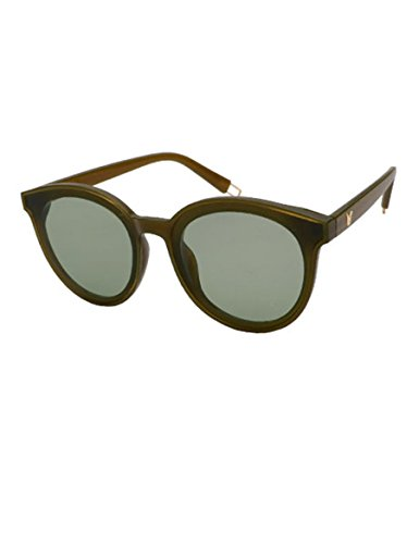 Weibliche Tan Lange Sonnenbrille Sonnenbrille Neue Sonnenbrille Große Rahmen Runde Gesicht Brille ( Farbe : 7 )