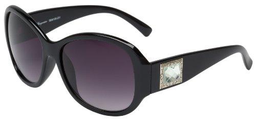 Schöne Marken Sonnenbrille für Damen von Burgmeister mit 100% UV Schutz | Sonnenbrille mit stabiler Polycarbonatfassung, hochwertigem Brillenetui, Brillenbeutel und 2 Jahren Garantie | SBM109-231