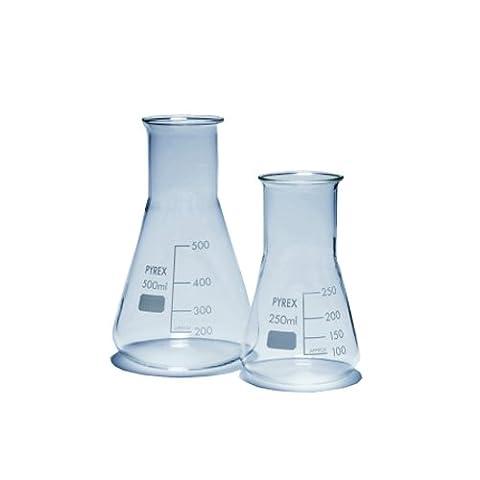Pyrex 1140/18D Fläschchen, Glas, 2l, Erlenmeyer Weithals (10Stück) (Pyrex Erlenmeyerkolben)