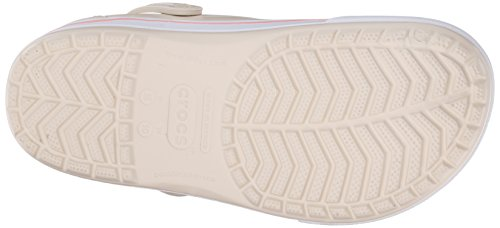 Crocs Crocband II.5 Clog, Unisex-Erwachsene Clogs, Schwarz (Black/Charcoal 070),  43/44 EU (M10/W12 US) Beige (Stucco/Melon)