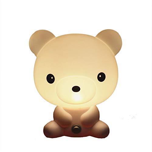 5 W LED Tisch Licht Lesen Buch Lernen Beleuchtung Niedlichen Cartoon Removable Panda Hund Nachtlampe Kinder Student Schlafzimmer Nacht Schlafsaal (Bär)