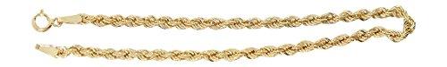 Hobra-Gold 19 cm Armband Gold 585 Wallisarmband funkelndes Goldarmband 14 Karat Armkette 2,5 mm