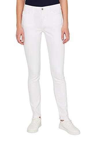 edc by ESPRIT Damen 049CC1B006 Skinny Jeans, Weiß (White 100), W30/L32 (Herstellergröße: 30/32) -