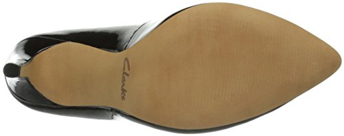 Clarks Always Chic, Escarpins femme Noir (Black Pat)
