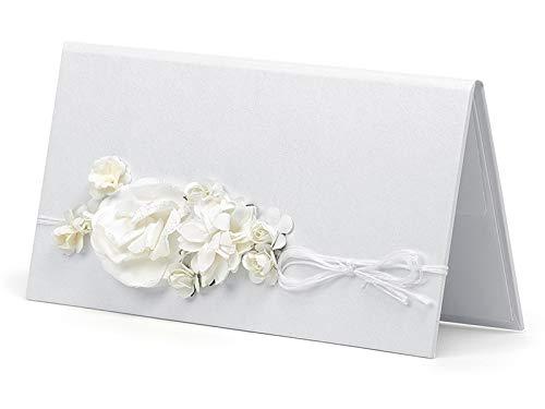Elegantes Etui für Geldgeschenke zur Hochzeit verschiedene Designs (crèmefarben elegant mit Schnur)