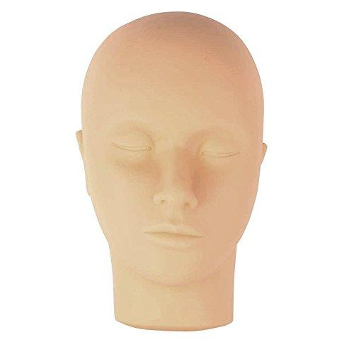 Vococal® Mannequin Doux Tête Plate Sans Cheveux pour Extension de Cils Maquillage Formation Maquillage Peinture Pratique de Massage