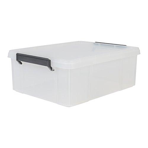 IRIS 135627, Aufbewahrungsbox / Kiste mit Deckel / Stapelbox \'Multi Box\', MBX-18, Kunststoff, transparent, 18 L, 45,3 x 34,8 x 16,5 cm