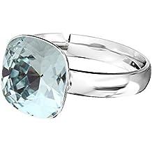 5954aeaac2b083 Bague Crystals   Stones carrée en argent sterling 925 avec cristal Swarovski  Elements, disponible en