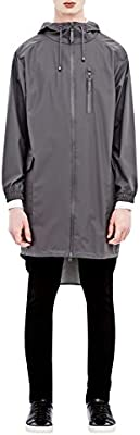 Rains Parka Coat, Impermeable para Hombre, Gris, Talla Única