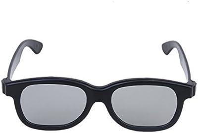 SODIAL(R) 5 pares de gafas 3D polarizadas Circular pasiva de adultos - negro