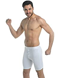 ELEGANCE Men`s Active-wear Soft Cotton Extra Long Leg Boxers All (1150 button fly)