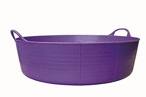 Decco Ltd Tubtrugs - Tinozza Flessibile in plastica Riciclata, 2 Manici, 35 l, Colore: Viola