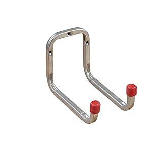 Gerätehalter Gerätehaken DUO Doppel-Wandhaken 173 mm Schraubhaken | Haken Stahl verzinkt | Allzweckhaken für Keller - Garage - Ordnung | Baubeschläge von GedoTec®