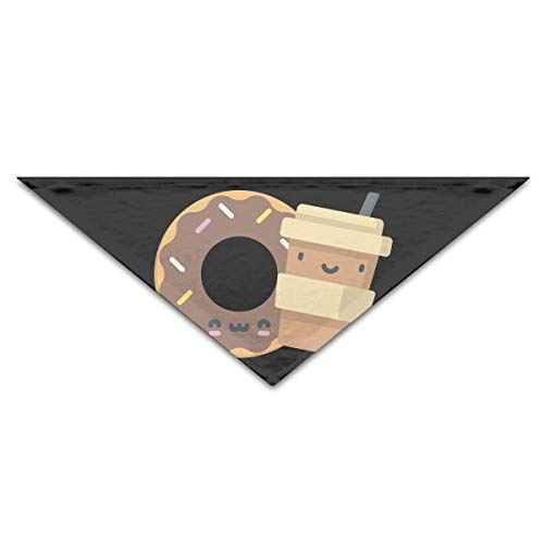 (Gxdchfj Dog Bandana Scarf Triangle Bibs Coffee Donut Kerchief,Pets Birthday Bandana Bibs Triangle Head Scarfs Accessories)
