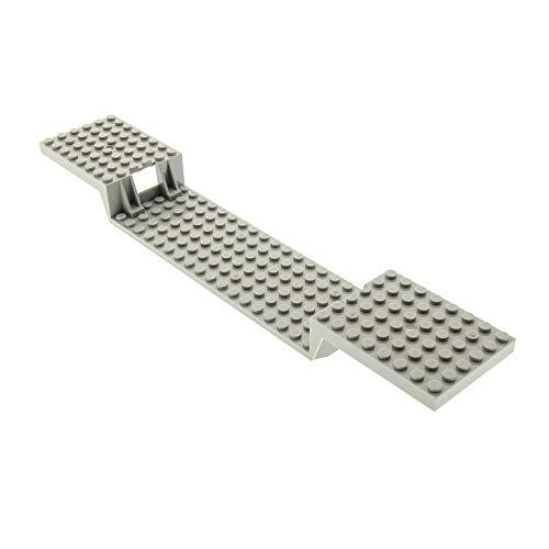 1 x Lego System Fahrgestell Zug Bau Platte alt-hell grau 6x34 mit Boden Röhren Eisenbahn Train Base (1 Loch) für Set 4547 4549 10002 2972 - Graue Platte Bau Lego
