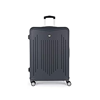 Gabol – Clever | Maletas de Viaje Grandes Rigidas de 53 x 76 x 30 cm con Capacidad para 100 L de Color Gris