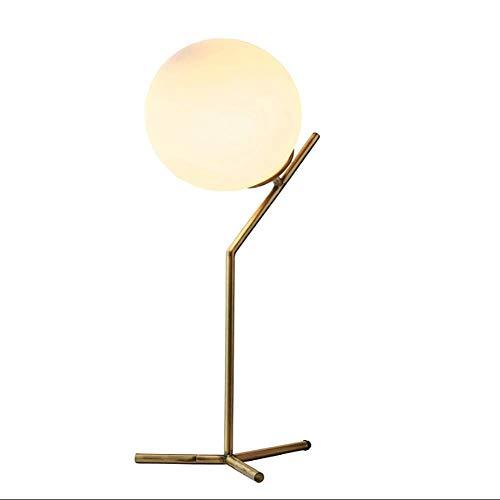 LXDDB Glaskugel und abgewinkelte Metalltischlampe mit Glühlampe, 21,5