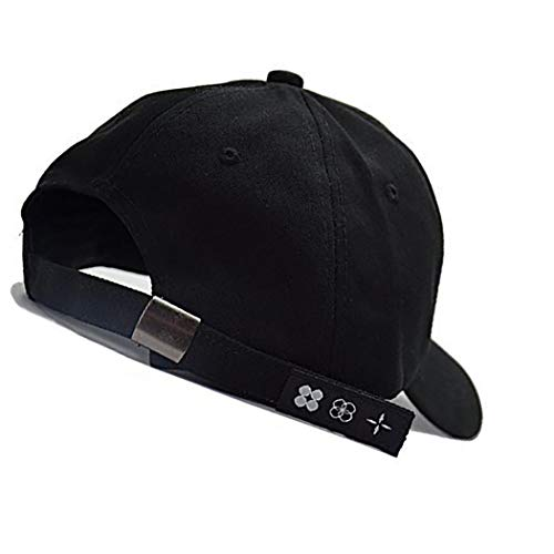 Imagen de anillo de hierro  de béisbol k pop bangtan boys al aire libre del sombrero del snapback ajustable informal sombrero del papá de hip hop  negro  alternativa
