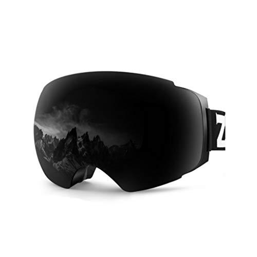 Skibrille mit großen sphärischen Doppelschicht Anti-Fog-Magnet-Objektiv für Männer und Frauen mit Augenschutz Ski Brille ausgestattet (Farbe : A)