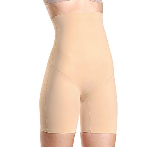 Kasheer Damen Shapewear Figurformende Bauch-Weg Miederhose. ShapePants High formt Ihre Silhouette bis zur Unterbrust. Haut Gr. 52/54 (Plus Size Damen Kompression Hose)