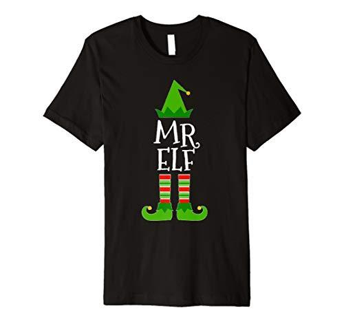 Herr Elf passenden Familien Gruppe Weihnachten T - Schwarzer Mrs Santa Kostüm