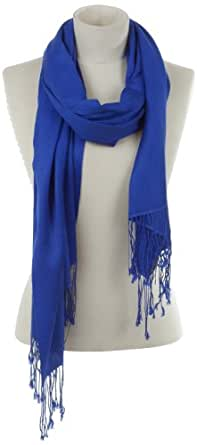 Codello Damen Pashmina Schal CL870001-122, Gr. one size (55x200cm), Blau (122)