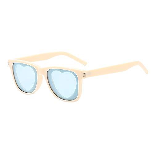 OVERMAL Sonnenbrillen, Damen Herren Weinlese Sonnenbrille Retro Herz Form Rahmen Eyewear Mode...