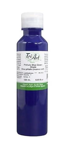 Tri-Art Finest Liquids Artist Acrylics, 120ml, Phthalo Blue/Green Shade by Tri-Art