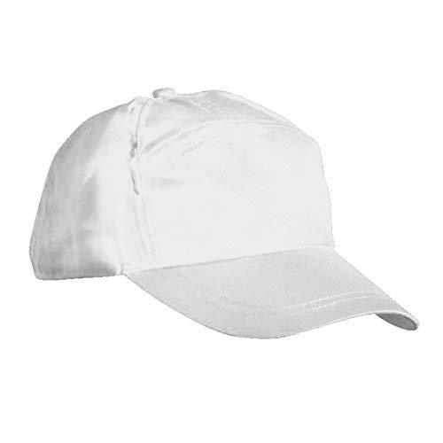 Result - Casquette unie 100% coton - Adulte unisexe (Taille unique) (Blanc)