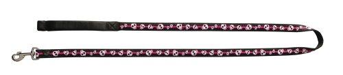 Artikelbild: Dogit Style Medium Nylon Leine mit Comfort Griff, E-Skulls, pink auf schwarz