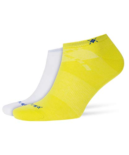 Burlington Herren Everyday Füßlinge Einfarbig Baumwolle 2 Paar sportliche Sneakersocken, Blickdicht, gelb (Sulfur 1084), 40/46 (2erPack) -