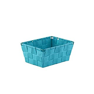 Axentia Storage Basket, Metal, 19x 14x 9cm Blue