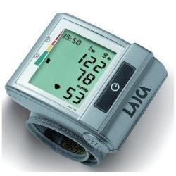 Laica BM1001 Misuratore di Pressione Sanguigna da Polso Automatico, 60 Memorie, Silver