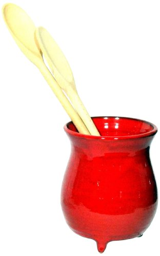 Amazing Cookware Terracotta Utensil Jar - Red