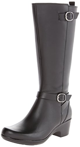 Clarks Malia Pappel-Boot Black Leather