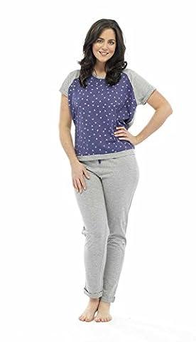 Mesdames Tom Franks Star dévoré pour femme et pour homme Ensemble pyjama Lounge Wear - bleu - 40-42