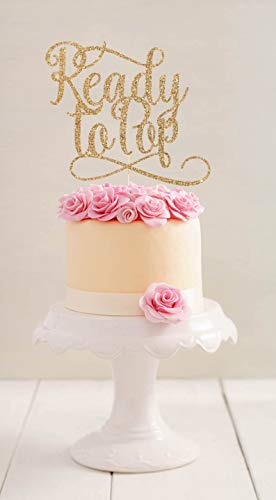 Ready to Pop Cake Topper l Baby Shower Cake Topper l Gender Reveal Party l Gender Reveal Cake Topper l Baby Shower l Cake Topper