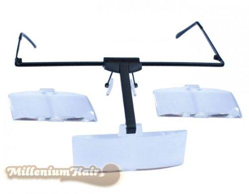 MilleniumHair Lupenbrille - Vergrößerungsbrille - 3 Aufsätze - Wimpernverlängerung