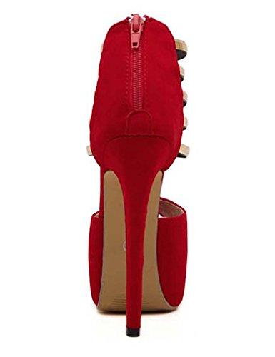 Solshine , chaussures compensées femme Rouge