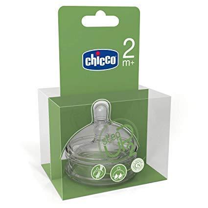 Chicco 00060074100000 - Tettarella in silicone Step-Up 2, flusso regolabile 2m+, cartone da 6 confezioni da 2