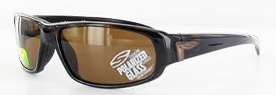 Smith Optics Men's Precept Mahogany Frame/Brown Polarized Lens Plastic Sunglasses