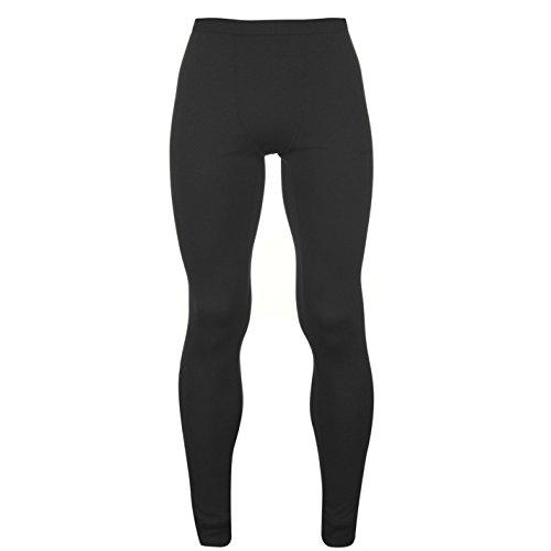 Campri Uomo Termico Collant Outdoor Pantaloni Elasticizzato Allenamento Caldo Charcoal