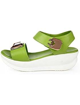 Estudiante verano sandalias planas cómodas pendiente con zapatos antideslizantes , green , US6 / EU36 / UK4 /...