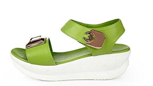 Summer Student flache Sandalen komfortable Steigung mit rutschfesten Schuhen Green