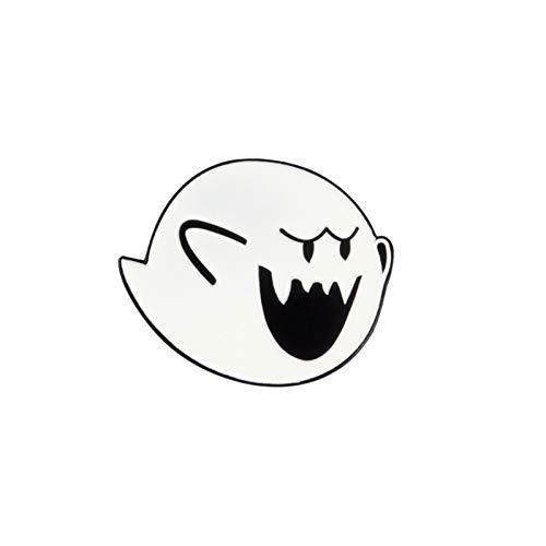 JTXZD Brosche Vorverkauf ! Niedliche Klassische Spiel Overall Klempner Bowser Koopa Muschel Weiß Fett Boo Emaille Broschen Pins