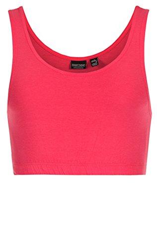 Eight2Nine Damen Tanktops Crop Top / Kurztop Tops 15824 bright pink (14600)