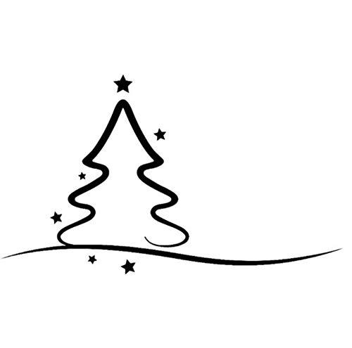 Adesivo per auto 18.9cm * 11.3cm Albero di Natale decorato con stelle Adesivo per auto in vinile Adesivo bello e semplice 2 pezzi