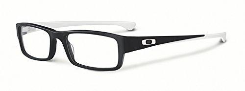 Oakley Rx Eyewear Für Mann Ox1066 Servo Satin Black / White Kunststoffgestell Brillen, 53mm (Männer Schuhe 2013)
