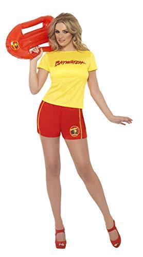 Badeanzug Baywatch Kostüm - Smiffys, Damen Sexy Baywatch Strand-Kostüm, T-Shirt und Shorts, Größe: S, 32831